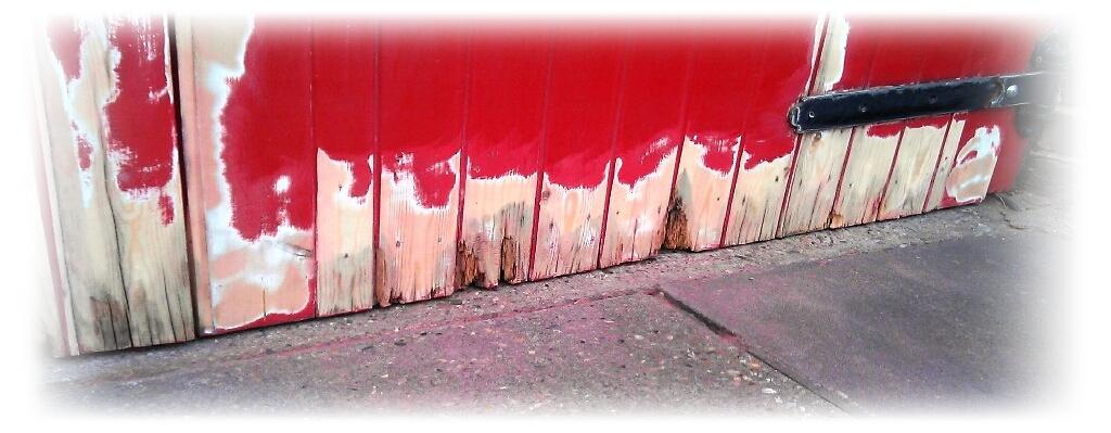 Rotten garage door restoration
