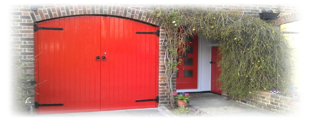 Exterior painting red & white